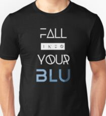 BLU White Text Slim Fit T-Shirt