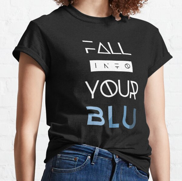 BLU White Text Classic T-Shirt
