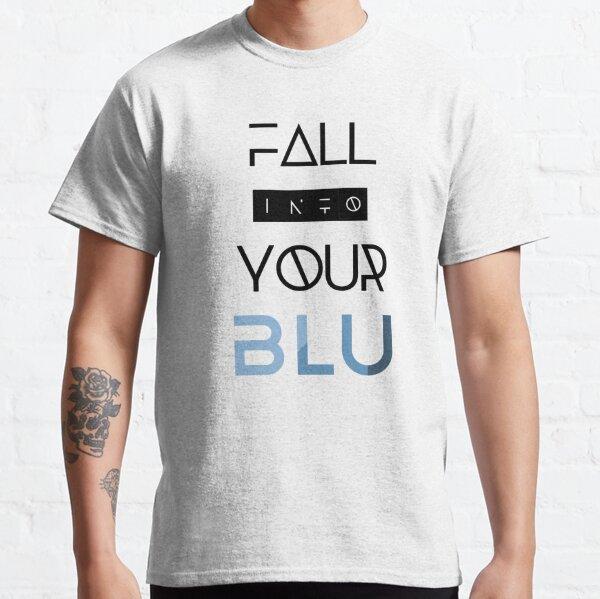 BLU Black Text Classic T-Shirt