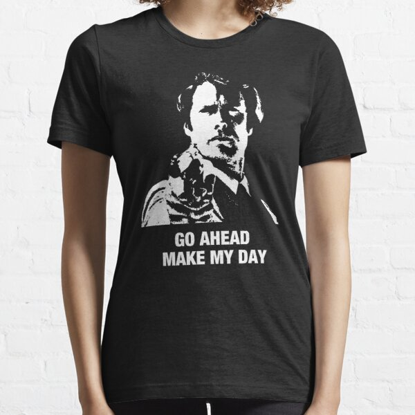 Go Ahead Make My Day Dirty Harry Clint Eastwood fan gift Black t shirt for dad Essential T-Shirt