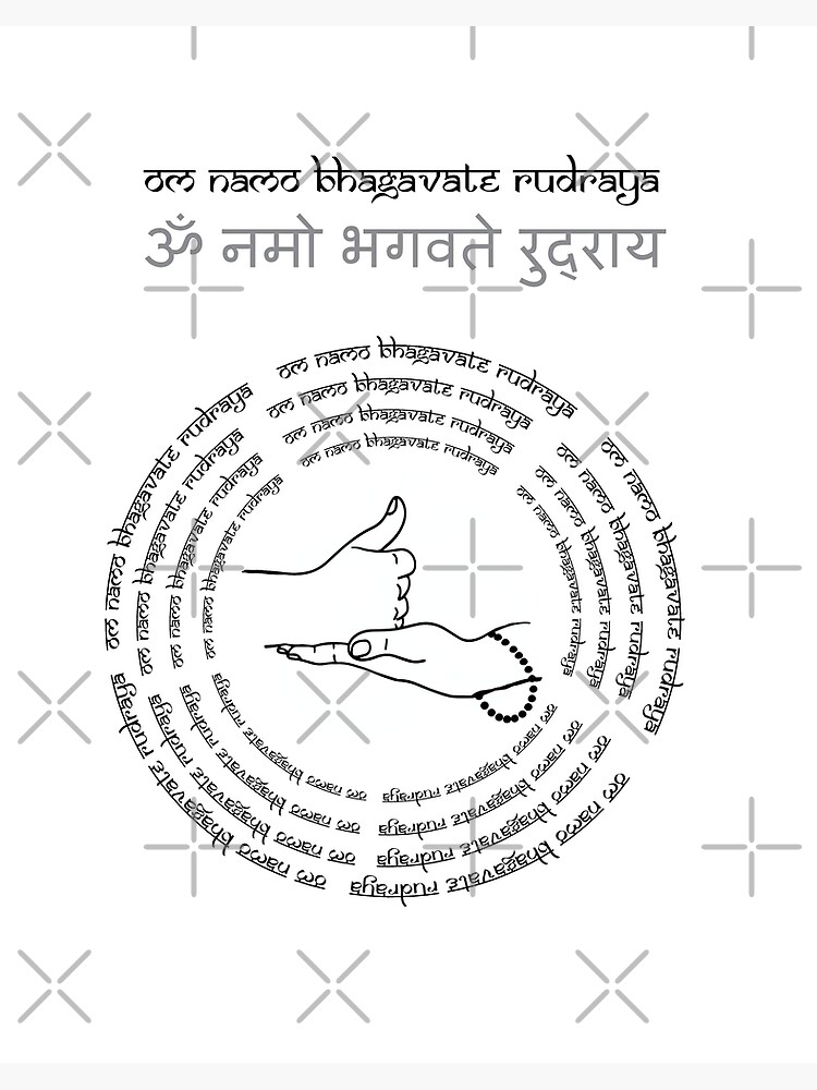 shiva linga mudra and Lord Shiva mantra Om Namo Bhagavate Rudraya vol  2 |  Art Board Print