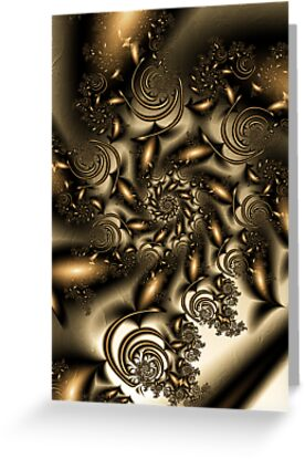 Gold Spiral  Roses by plunder