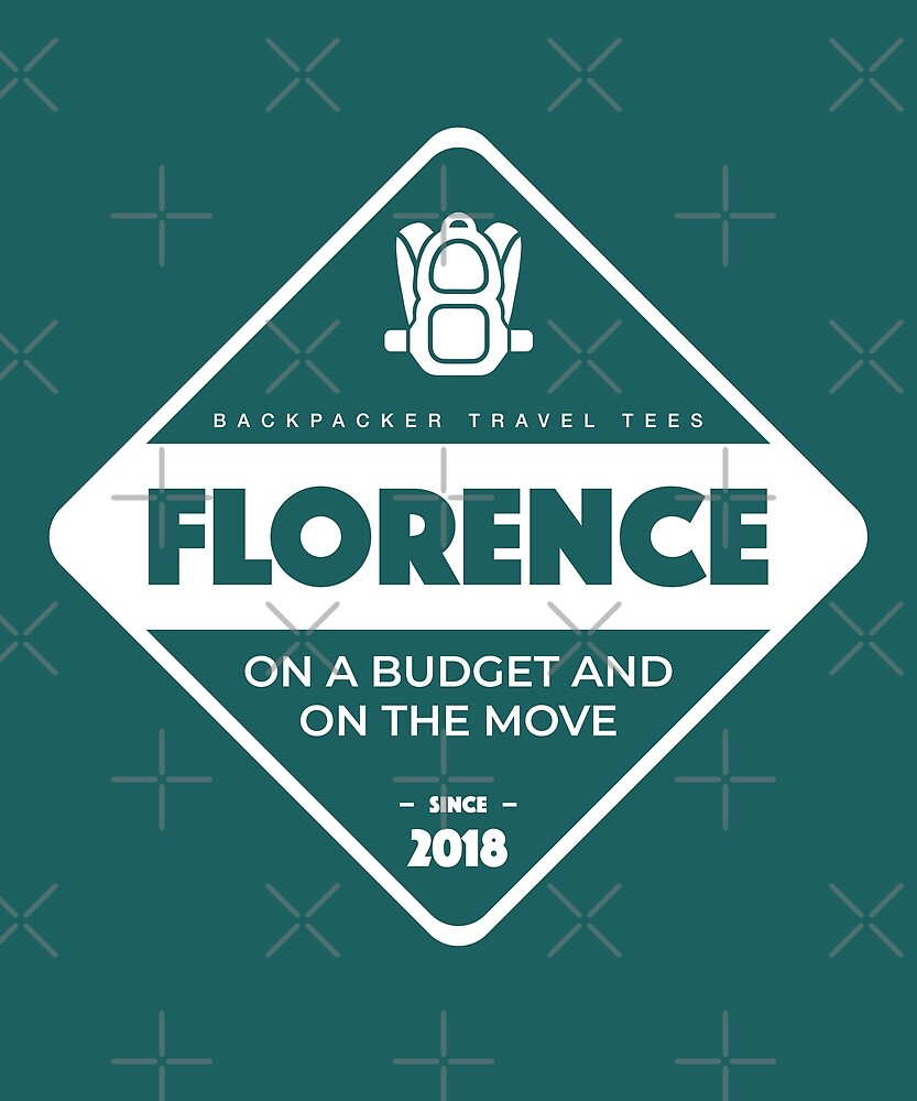 Florence Backpackers T-Shirt by designkitsch