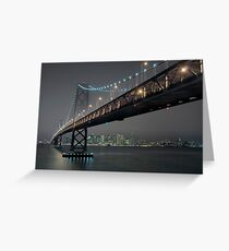 The Bay Bridge and SF (Revisited) Greeting Card