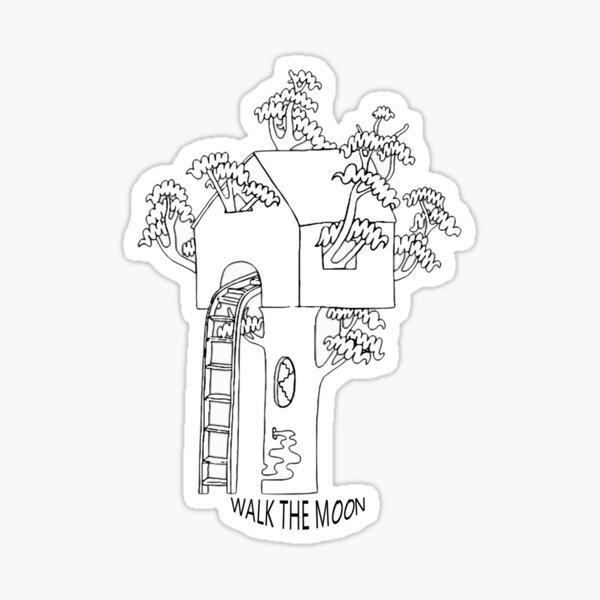 Walk the Moon Tree House Design Sticker