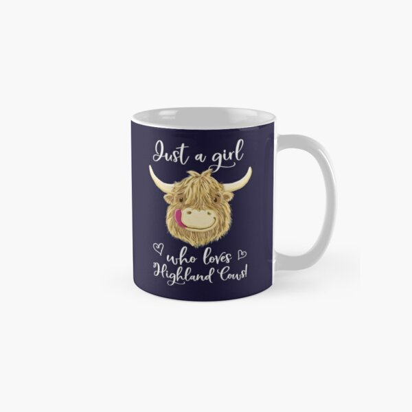 Just A Girl Who Loves Scottish Highland Cows Classic Mug