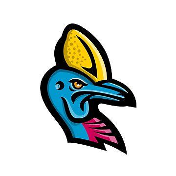 Cassowary Head Mascot by patrimonio
