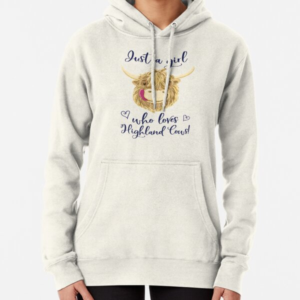 Just A Girl Who Loves Scottish Highland Cows Pullover Hoodie