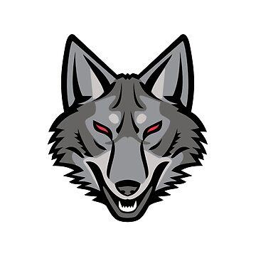 Gray Coyote Head Mascot by patrimonio