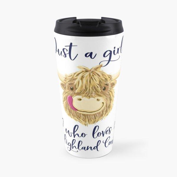 Just A Girl Who Loves Scottish Highland Cows Travel Mug