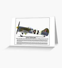 Hawker Tempest MKV Aircraft Profile Greeting Card