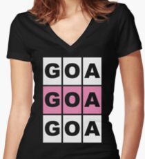 GOA GOA GOA Music gift Women's Fitted V-Neck T-Shirt