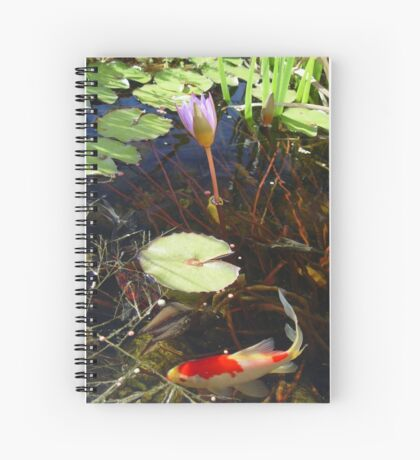 Koi and Waterlily Spiral Notebook