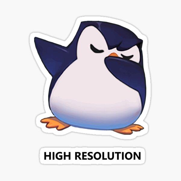 8K Penguin Dab !! Pegatina