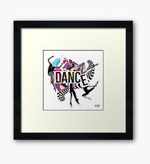 DANCE - A graphic tribute to BALLET -  Framed Print
