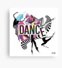 DANCE - A graphic tribute to BALLET -  Canvas Print