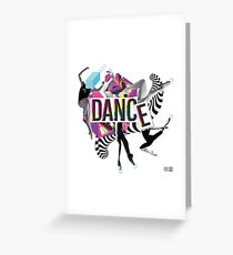 DANCE - A graphic tribute to BALLET -  Greeting Card