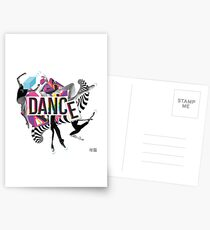 DANCE - A graphic tribute to BALLET -  Postcards