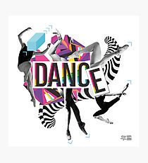 DANCE - A graphic tribute to BALLET -  Photographic Print