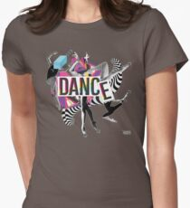 DANCE - A graphic tribute to BALLET -  Women's Fitted T-Shirt