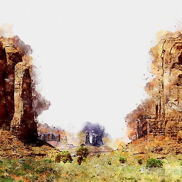Monument valley - Watercolor  by ErianAndre