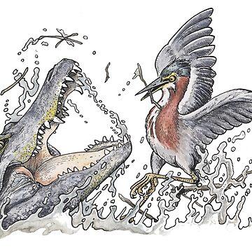 Alligator Attack by SnakeArtist