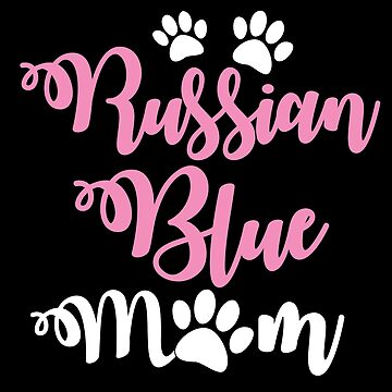 Russian blue cat mum mom with cute paws by jazzydevil