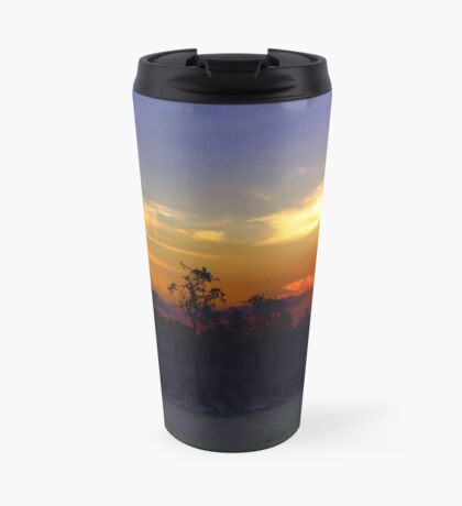 Waterhole sunset HDR Travel Mug