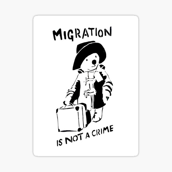 Migration Is Not A Crime Sticker