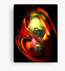 Raw Fury Abstract Canvas Print