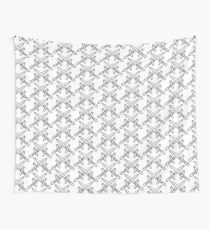 crossed knifes pattern Wall Tapestry