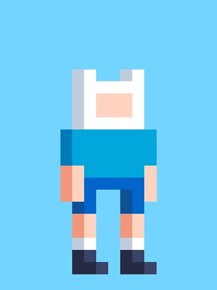 Adventure Time Finn Voxel Style by Doomgriever