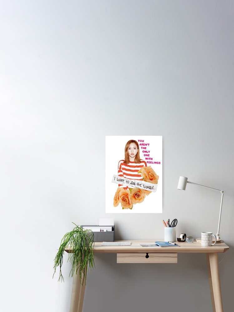 Twice Mina Flower Edit Poster By Sammykey Redbubble