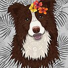 Tropical Brown Border Collie Girl by artlovepassion