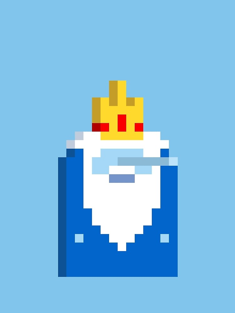 Adventure Time Ice King Voxel Style by Doomgriever