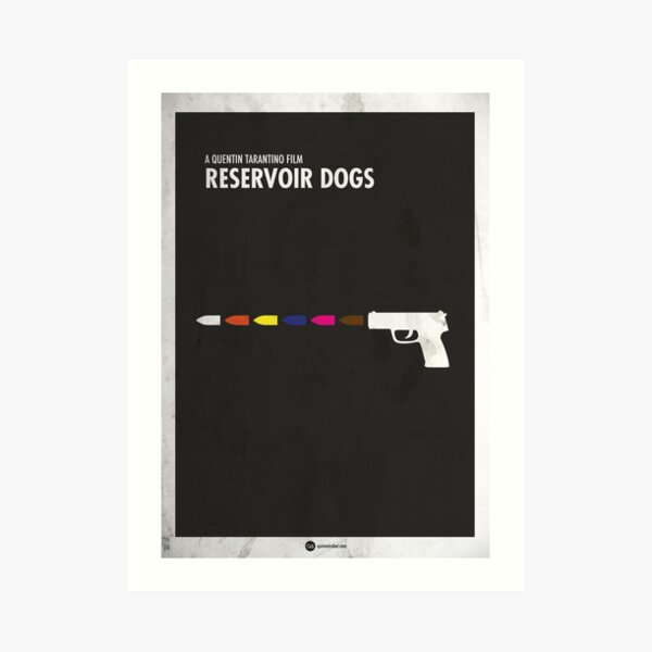Reservoir Dogs Minimal Film Poster Lámina artística