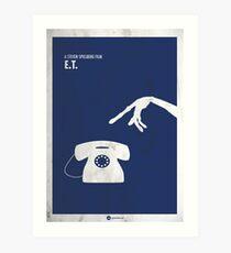 ET Minimal movie Poster Art Print