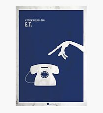 ET Minimal movie Poster Photographic Print