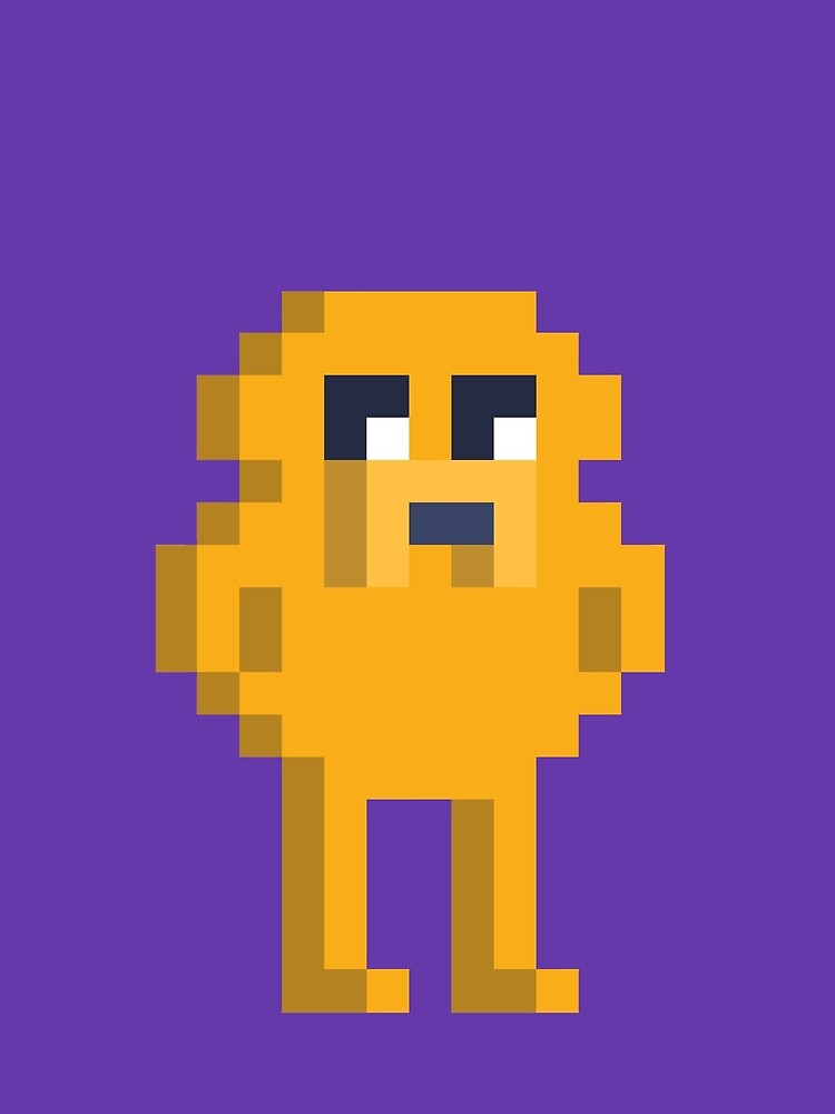 Adventure Time Jake Voxel Style by Doomgriever