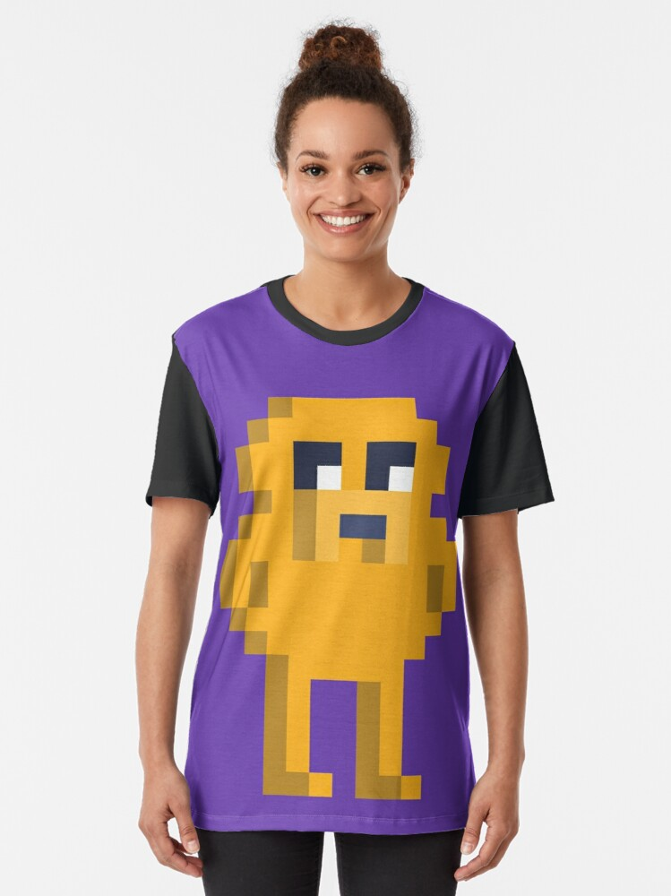 Alternate view of Adventure Time Jake Voxel Style Graphic T-Shirt