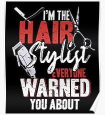 Hairdresser hair cutting haircut Poster