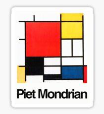 Piet Mondrian Sticker