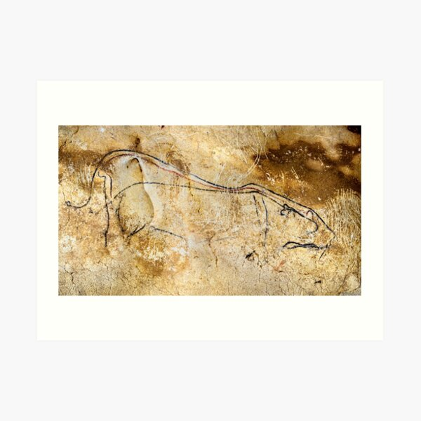 Chauvet Cave lions courting Art Print