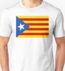 Estelada Flag, Catalan, Spain Spanish, Blue Estelada, Senyera Estelada, Starred flag, Lone Star flag. Slim Fit T-Shirt