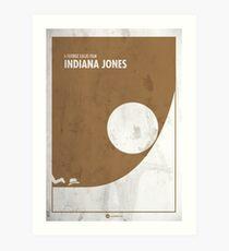 Indiana Jones Minimal movie Poster Art Print
