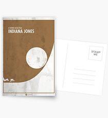 Indiana Jones Minimal movie Poster Postcards