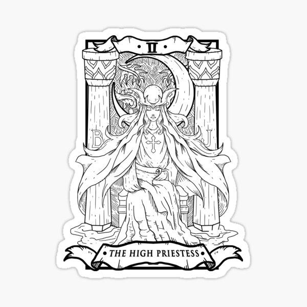 Tarot Card The High Priestess Sticker