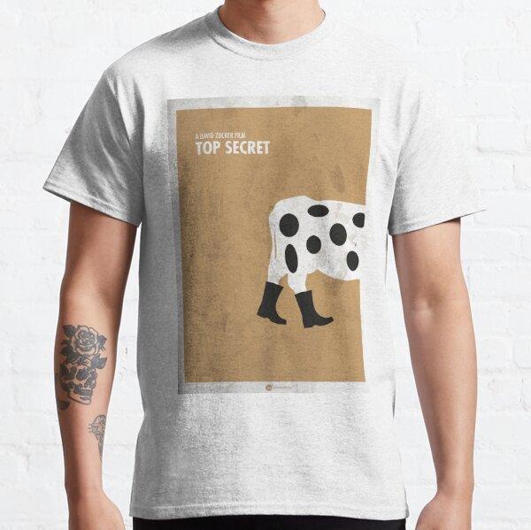 Top Secret Minimal movie Poster Camiseta clásica