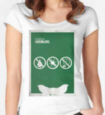 Gremlins Minimal movie Poster Fitted Scoop T-Shirt