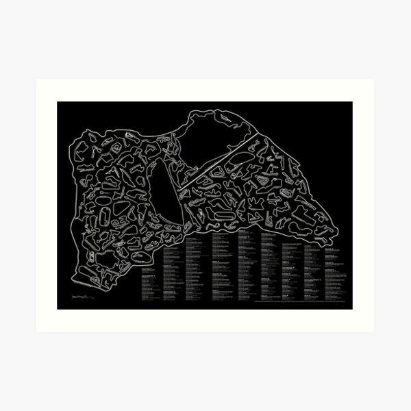 Pistes de course à l'échelle (inversées) Impression artistique